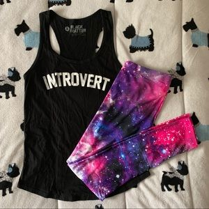 Black Introvert Hot Topic Tank Top